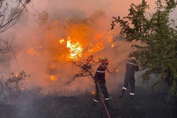 Les pompiers sont rapidement intervenus à Aramon