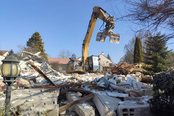 La maison de la famille Latouche est désormais complètement démolie.