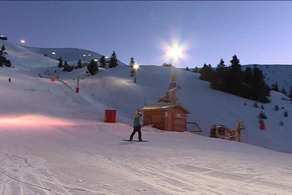 Le ski nocturne à Chabanon.