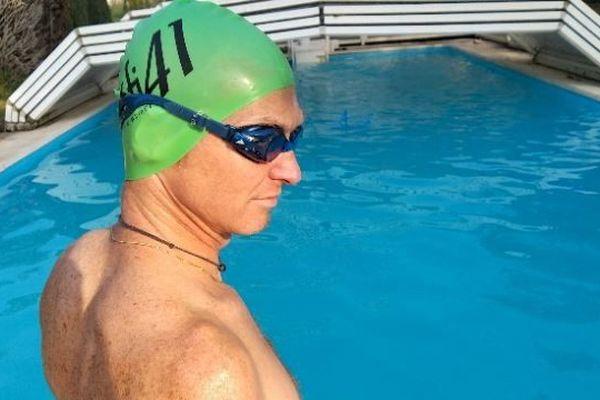 Ludovic Chorgnon reconnaît avoir de la chance de pouvoir s'entraîner chaque jour dans sa piscine à Vendôme.