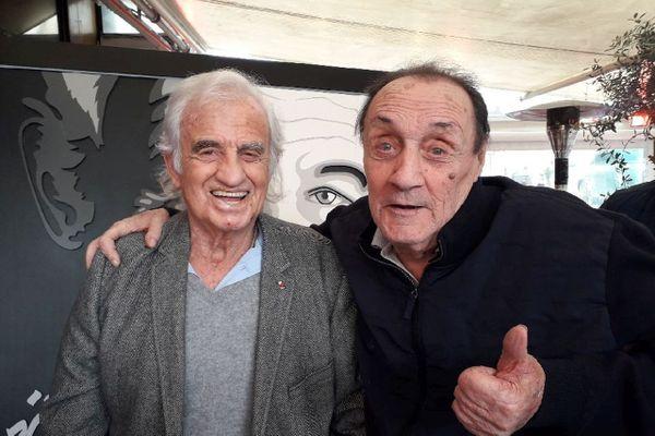 Jean Panisse et son ami Jean-Paul Belmondo avec lequel il a tourné trois films.