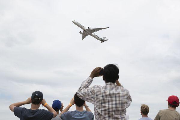 L'A350-1000 à Farnborough en juillet 2018