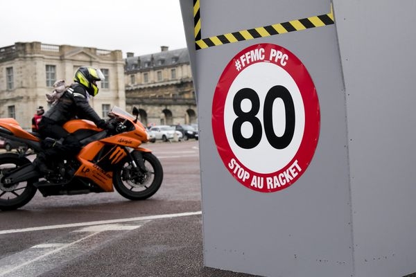 La limitation de vitesse à 80 km/h au lieu de 90 km/h a suscité l'ire des motards en février 2018 / Illustration
