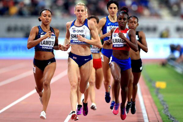 Rénelle Lamote aux derniers championnats du monde d'Athlétisme en septembre dernier à Doha (Qatar)