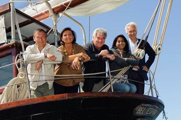 Laurent Bignolas, Lise Blanchet, Georges Pernoud, Sabine Quindou et Jean Loiseau