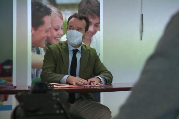 Le recteur de l'académie d'Amiens, Raphaël Muller, en conférence de presse pour évoquer la rentrée vendredi 28 août 2020