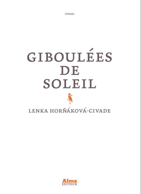Couverture du roman de Lenka Hornakova-Civade.
