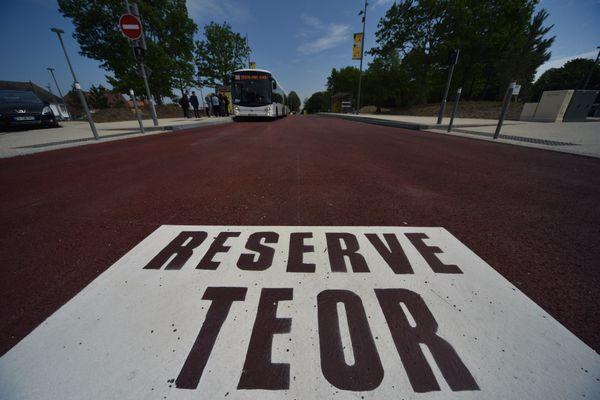 Exemple d'une voie réservée au TEOR T4