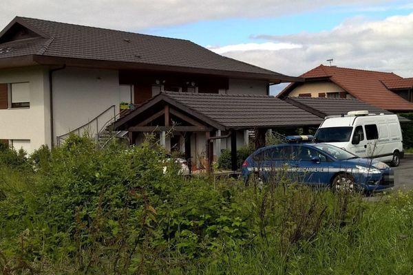 Le domicile du père, Cédric MAHIEU, à Margencel en Haute-Savoie