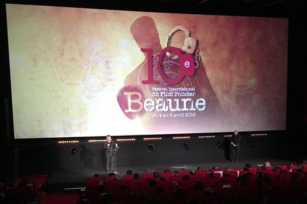 La cérémonie de clôture du 10e festival international du film policer de Beaune.