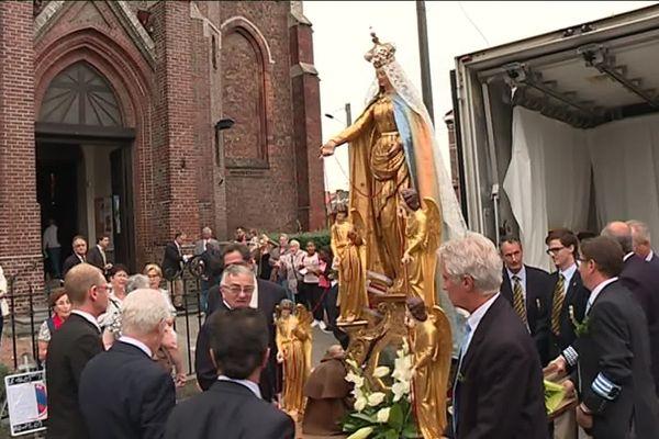 La statue de la Vierge du Saint-Cordon fera plusieurs haltes dans le Valenciennois.