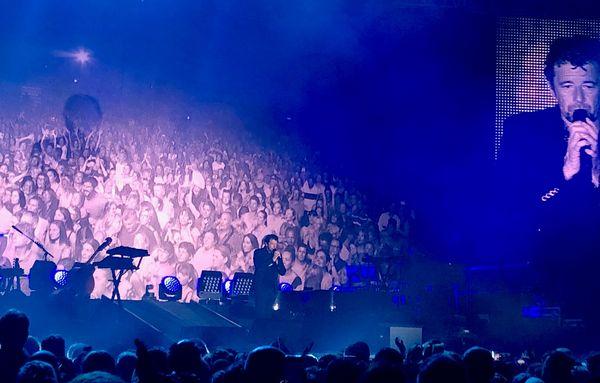 Patrick Bruel en concert au Aio Festival d'Ajaccio, le 9 août 2019.