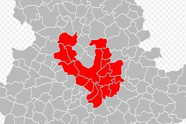 Nouveau périmètre de Limoges Métropole ( à partir du 1er janvier 2014)
