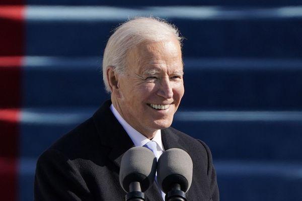 Le president des Etats-Unis, Joe Biden lors de son investiture à Washington, DC, le 20 janvier 2021.