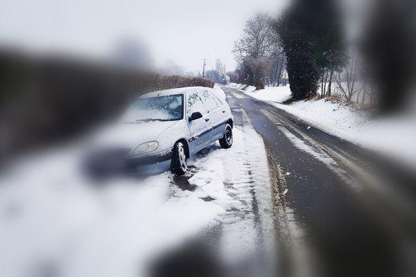 Des sorties de route dans l'Orne ce 30 janvier, ici près de Carrouges