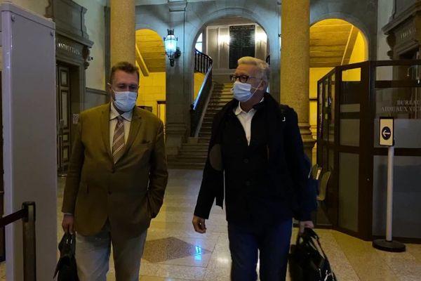 Michel Moine et son avocat Alain Scheuer