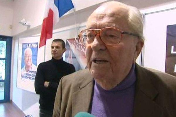 Jean-Marie Le Pen lors de son passage à Annemasse