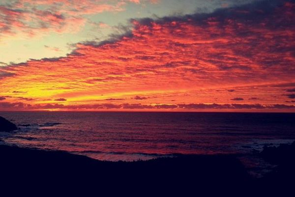 Coucher de soleil sur les Iles Sanguinaires le 1er janvier 2015 (Corse-du-Sud)