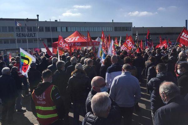 Plus d'un millier de personnes sont mobilisés pour soutenir la fonderie de Caudan