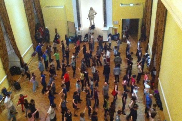 Répétitions du flash mob du carnaval de Blois