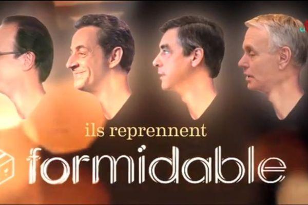 """""""Formidable"""" de Stromae, recomposé à partir des discours de François Hollande, Nicolas Sarkozy, François Fillon et Jean-Marc Ayrault."""