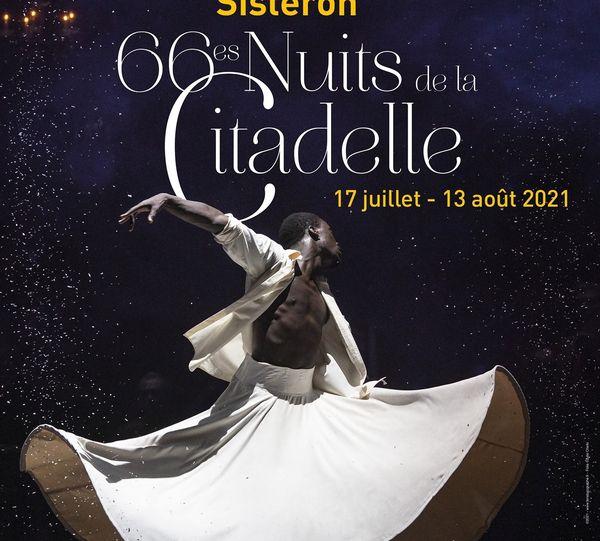 L'affiche officielle de la 66ème édition du festival les Nuits de la Citadelle de Sisteron.