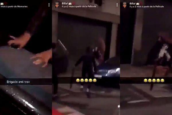 L'agression se serait déroulée il y a au moins deux mois, rue de la Jonquière (XVIIe arrondissement de Paris). Elle a été filmée et diffusée sur un réseau social.