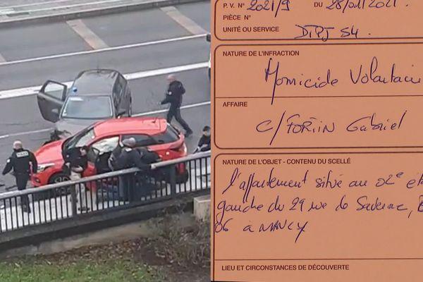 Deux lettres de Gabriel Fortin ont été retrouvées à son domicile à Nancy.