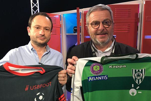 Bruno La Posta, Ligue Football Pays de la Loire, au côté de David Jouillat pour #USBFOOT