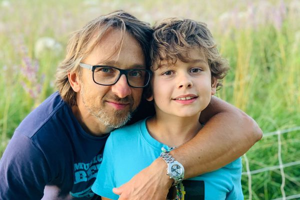 Dimitri avec son papa Frédéric Nowak, les héros d'un jour.