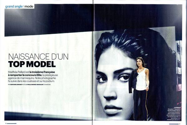 Dossier dans Aujourd'hui en France Magazine (13/12/2012) - Marilhéa Peillard - Elite Model Monde