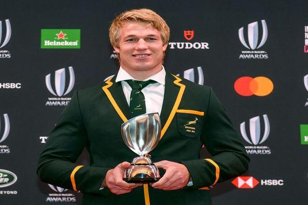 Pieter-Steph du Toit à la cérémonie des Rugby World Awards au Japon, élu meilleur joueur 2019 - 3 novembre 2019.