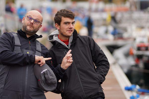 Martin Louchard quelques minutes avant le grand départ de la Transat Jacques Vabre 2019