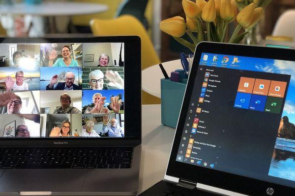 Réunion en ligne, vidéo-conférence