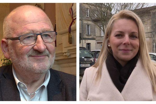 A gauche, Alain Renard, maire socialiste sortant de Saint-Savin-de-Blaye, face à Edwige Diaz, secrétaire départementale RN, alliée à l'ancien maire UMP. Un laboratoire politique qui sera observé de près par les instances des différents partis.