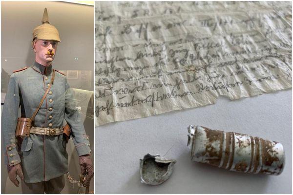 Un officier allemand a écrit le message sur papier calque retrouvé 110 ans après son envoi. Le message va rejoindre le musée du Linge, où se trouve déjà une tenue d'officier allemand.
