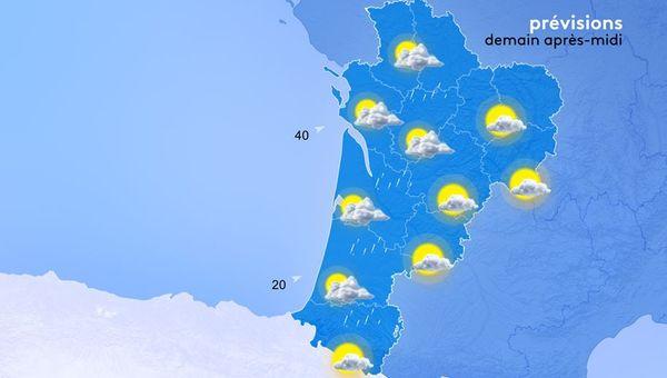 De maximumtemperaturen, tussen de 17 en 20 graden, liggen iets onder de seizoensnormen.