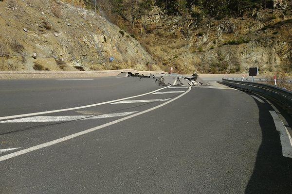 La route nationale 116 a été coupée dans les deux sens après le passage de la tempête Gloria - 25 janvier 2020