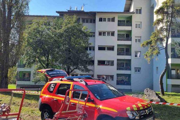 L'incendie s'est déclaré résidence Le Turchon à Saint-Jeoire en Haute-Savoie