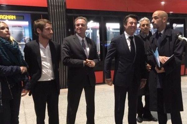 Le maire de Nice, Christian Estrosi a inauguré ce nouveau tronçon en présence de Renaud Muselier, président de la région PACA.