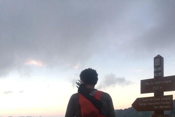 Coucher de soleil depuis le Pas de Colle Longue pour Christophe Tieran.