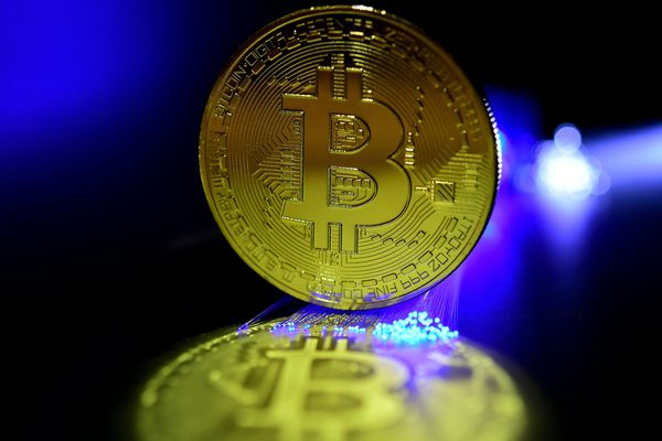 Figuration d'un bitcoin.
