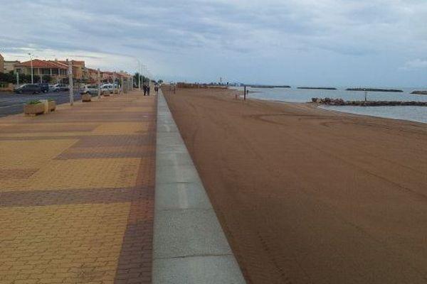 La plage de Vendres un 7 juillet 2014