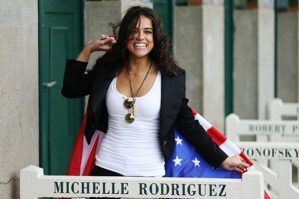 Michelle Rodriguez à Deauville, le 8 septembre 2017