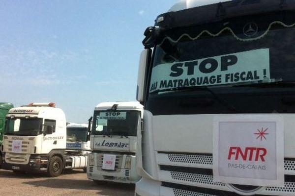 Les transporteurs routiers sont inquiets de la future écotaxe sur les poids lourds.