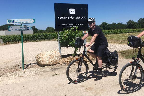 Le domaine des Pierrettes à Rilly-sur-Loire ( 37) a engagé une personne à plein temps pour recevoir les cyclotouristes.