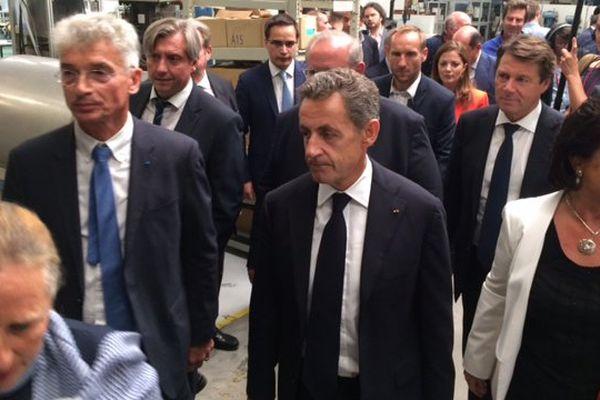 Nicolas Sarkozy en meeting à Vendôme dans le Loir-et-Cher
