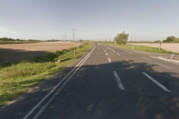L'accident s'est produit mardi matin à l'intersection des départementales 925 et 62.