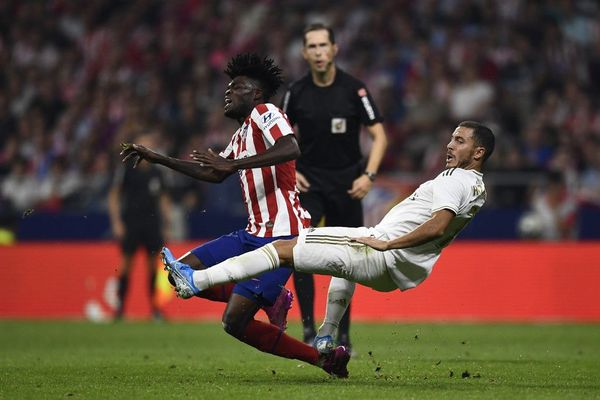 Eden Hazard lors du derby contre l'Atlético de Madrid samedi dernier.