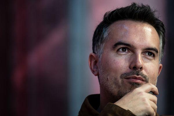 """L'écrivain Maxime Chattam lors du Festival """"Quais du polar"""", à Lyon le 30 mars 2019."""